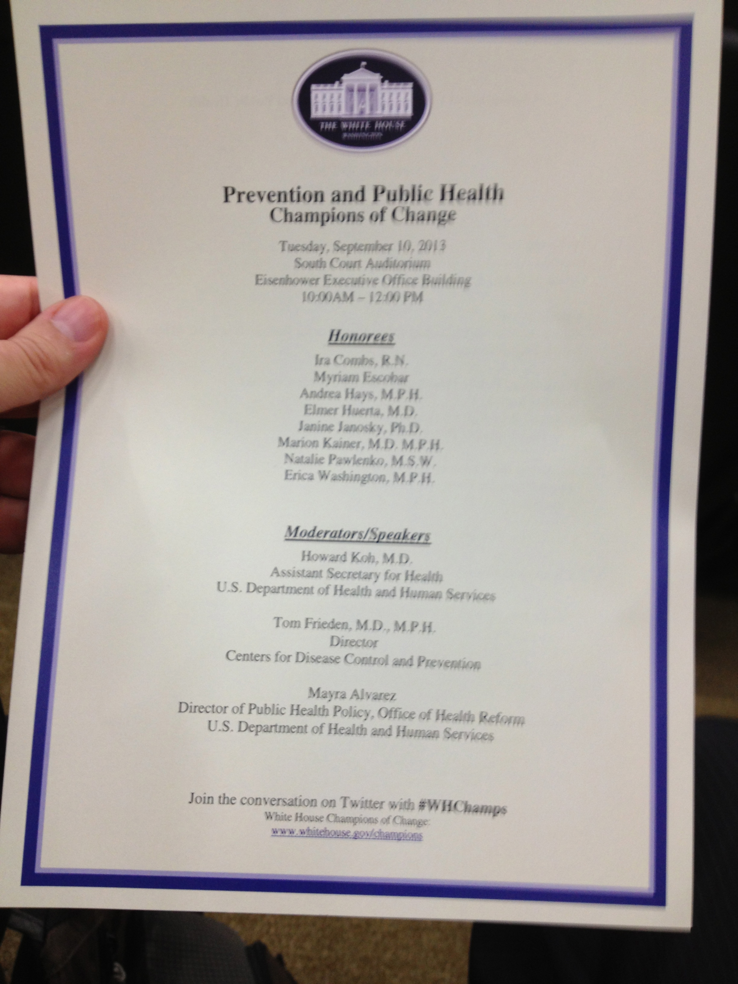 White House Champions of Change in Public Health and Prevention